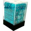 12mm d6 Dice Block: Cirrus Aqua w/Silver Thumb Nail