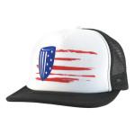 Mesh SnapBack Baseball Cap (Mesh Snapback Baseball Cap, Old Glory Flag Logo)