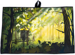 Innova Forest Design Tour Towel (Waffle Weave Disc Golf Towel, As Pictured)