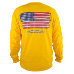 T-Shirt (Long Sleeve) (T-Shirt (Long Sleeve), Innova Disc Golf Logo (Front) American Flag (Back))