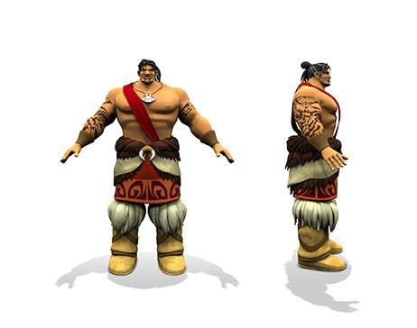 Mark of Kri, Character 3D