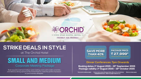 The Orchid - Five Star Ecotel Hotel Mumbai orchid corporatemeeting Web Banner